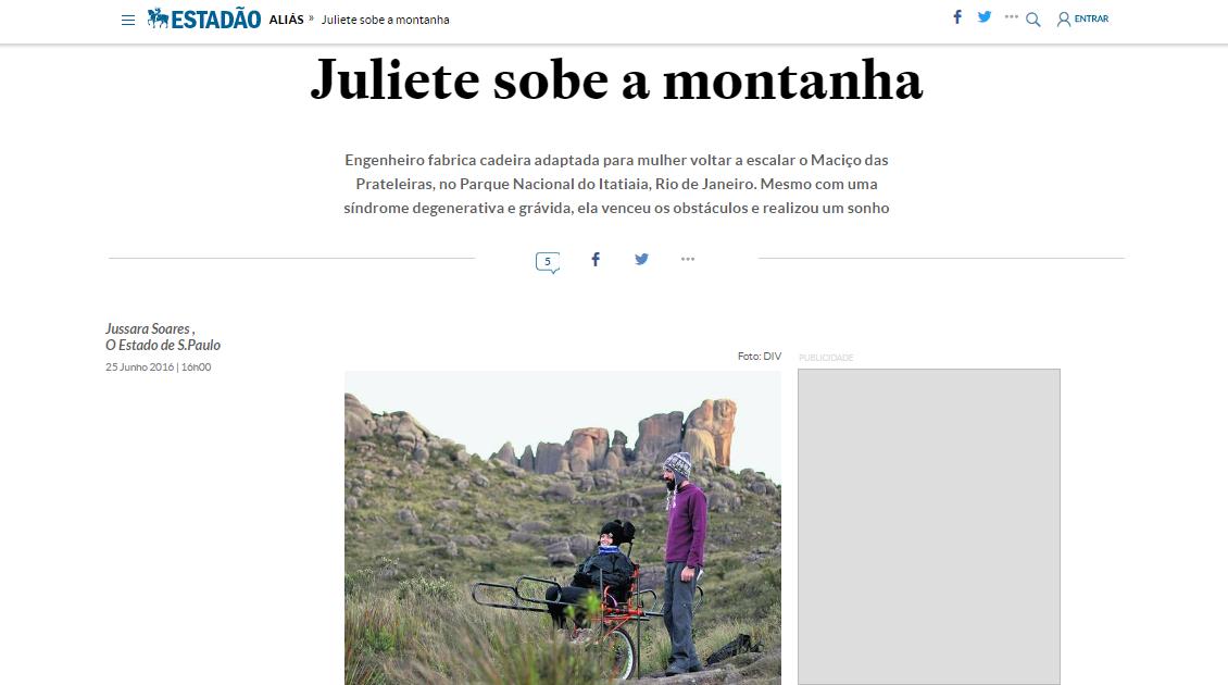 Matéria no Jornal Estadão