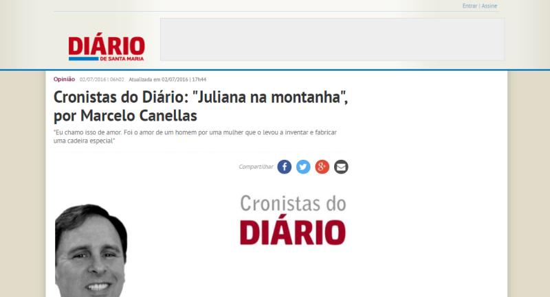 Matéria no Diário de Santa Catarina