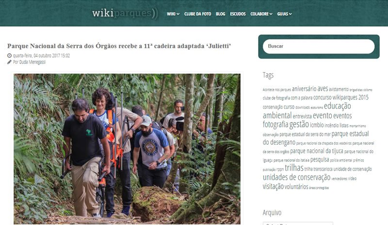 Matéria no WikiParques