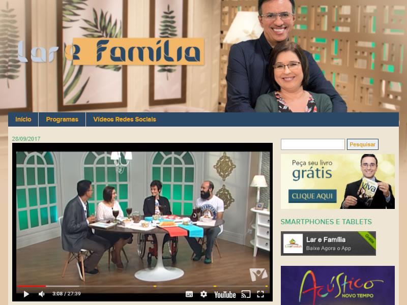 Entrevista para o Programa Lar e Família