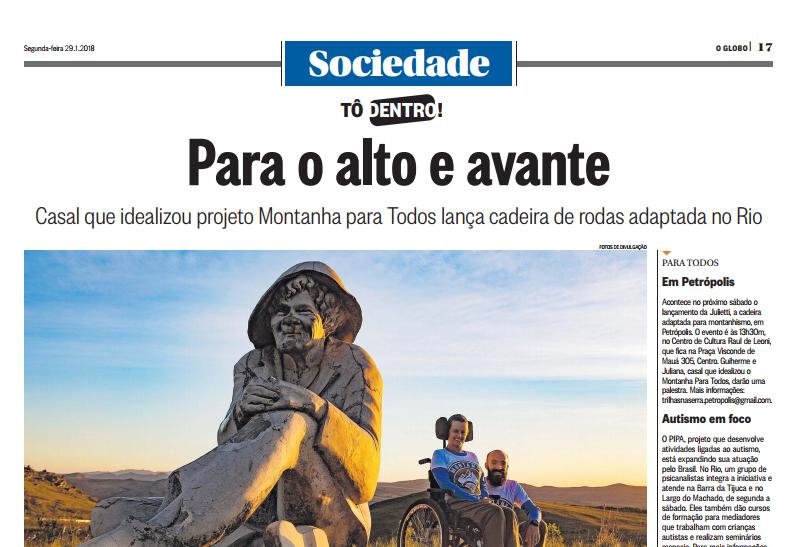 Matéria no Jornal O Globo
